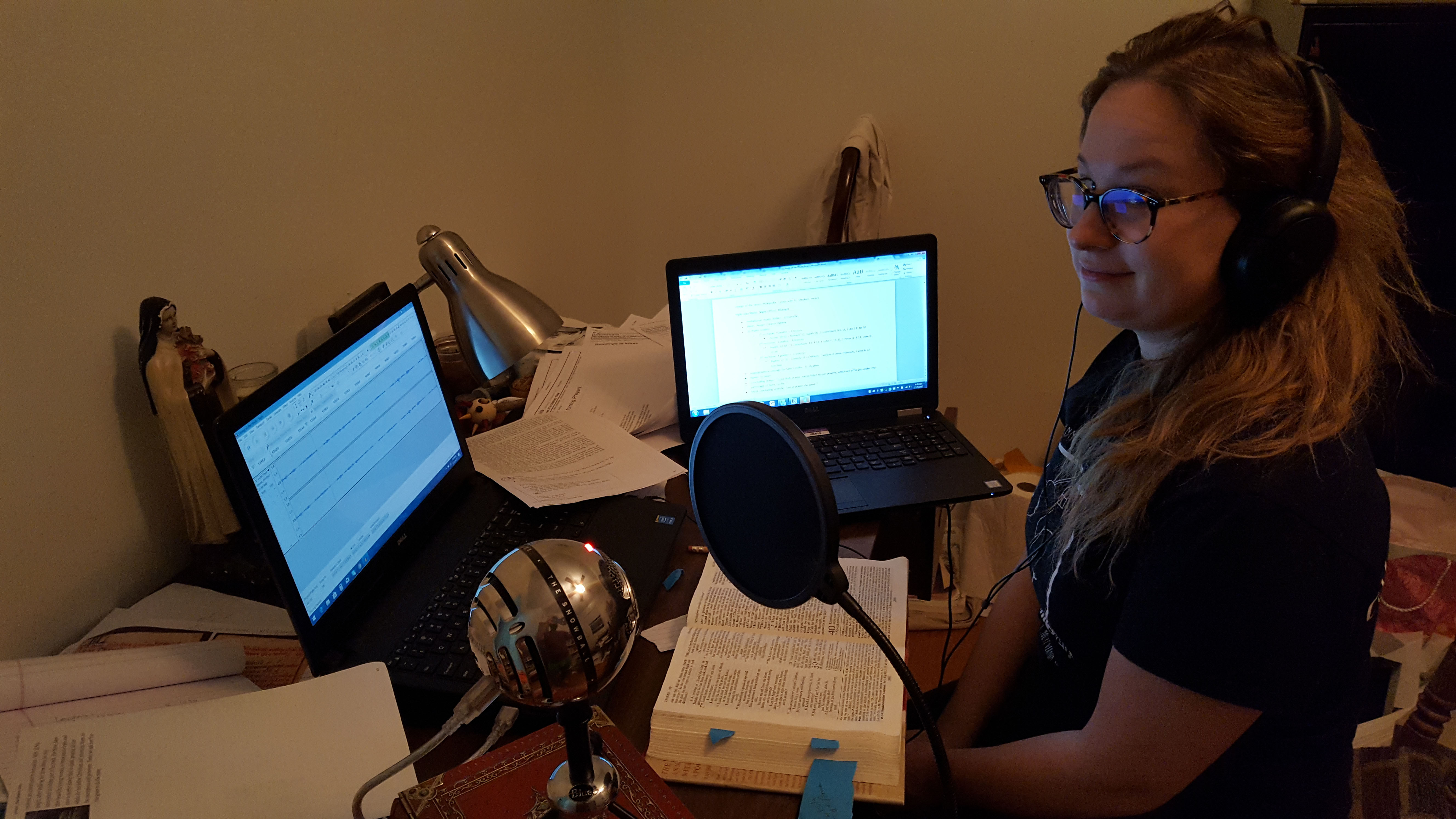 Grace Chamberlain Recording Daily Office from UI xMMs.Br2 Fall 2017 Material Analysis